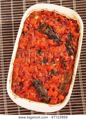 Eggplant Casserole With Tomatos