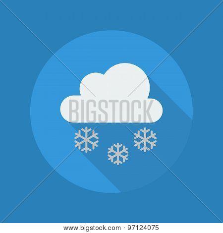Weather Flat Icon. Snow