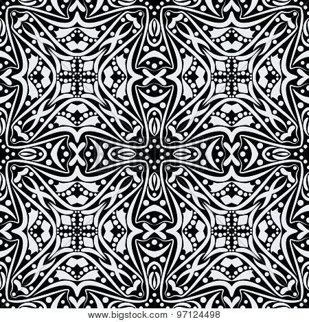 Black And White Seamless Pattern.