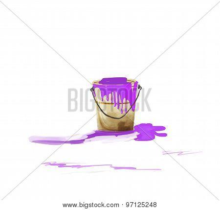 Purple paint Bucket illustration