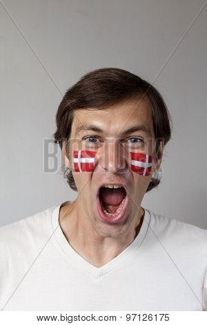 Happy Danish Sports Fan
