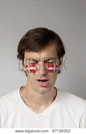 Upset Danish Sports Fan