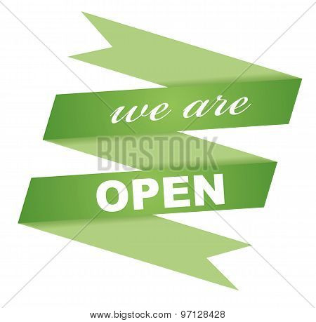 Sticker We Are Open