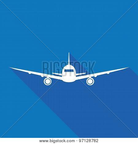 Vector Modern Minimalistic Airplane Logo Design