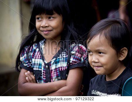 Portrait Of Two Indonesian Children