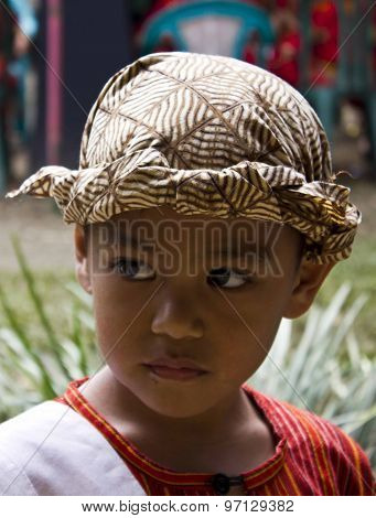 Portrait Of A Young Indonesian Boy