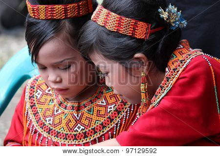 Portrait Of Two Young Torajan Girls