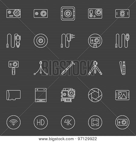 Extreme action camera icons