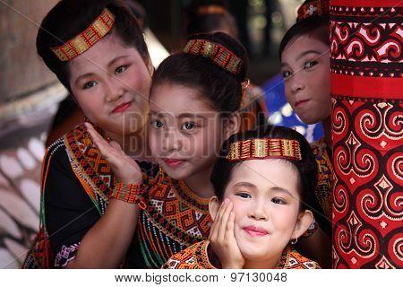 Group Portrait Of Torajan Girls