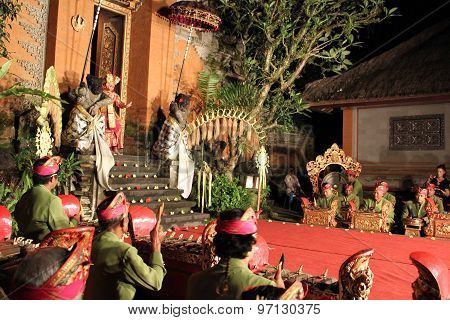 The Beginning Of A Traditional Balinese Show