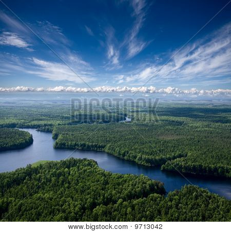 Aerial View The River