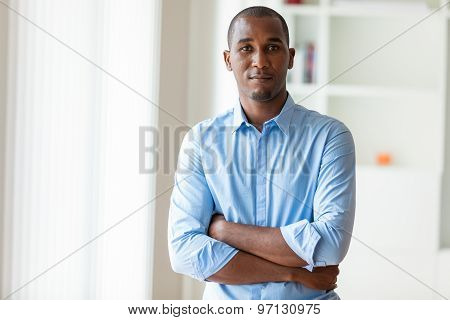 Portrait Of A Young African American Business Man - Black People