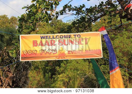 Welcome Sign To Baar Sunset