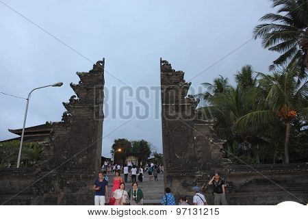 Entrance Gate Of Tanah Lot Temple