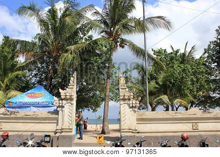 Entrance Gate Of Kuta Beach In Bali