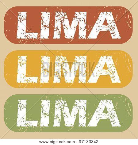 Vintage Lima stamp set