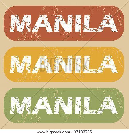 Vintage Manila stamp set