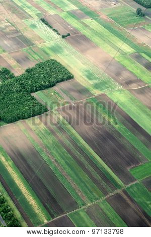 Aerial View On Rural Land