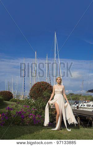 Beautiful Bride In Yacht Club