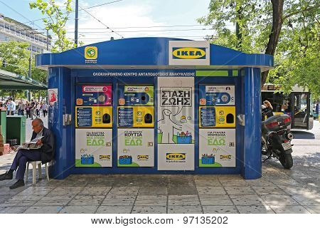 Ikea Recycling Kiosk