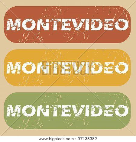 Vintage Montevideo stamp set