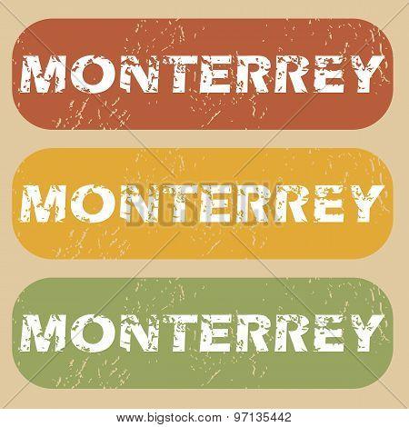 Vintage Monterrey stamp set