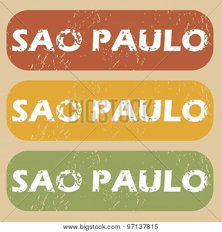 Vintage Sao Paulo stamp set