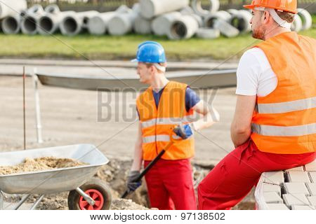 Physical Labourers Working Outdoor