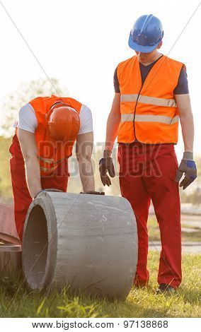 Construction Workers Working Outdoor