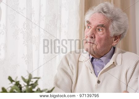 Thoughtful Senior Man