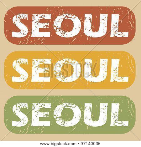 Vintage Seoul stamp set