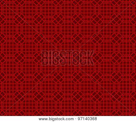 Seamless Chinese window tracery lattice polygon geometry pattern background.