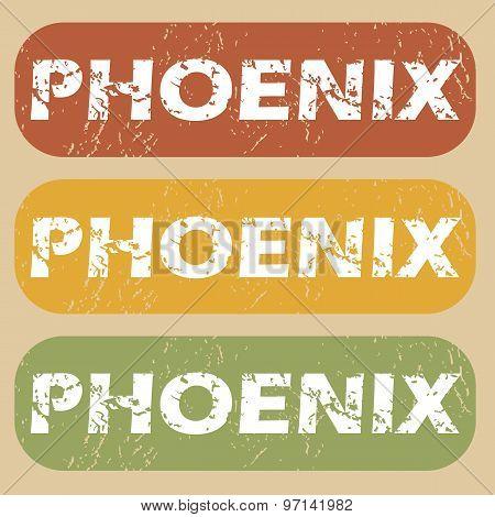 Vintage Phoenix stamp set