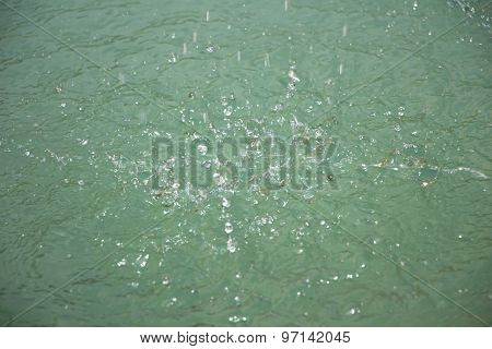 Photo drops on the surface of water