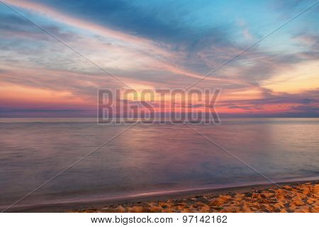 Sea at sunset at Phu Quoc island  in Vietnam