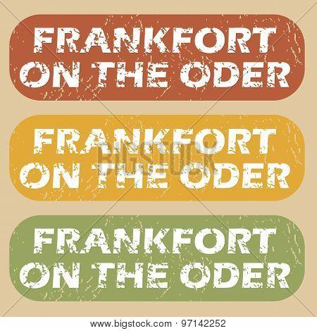 Vintage Frankfort on Oder stamps