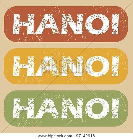 Vintage Hanoi stamp set