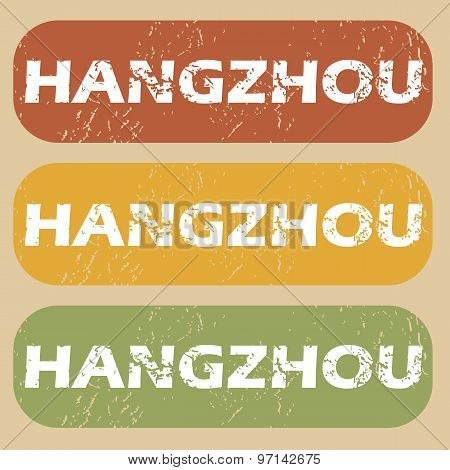 Vintage Hangzhou stamp set