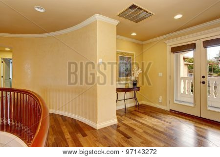 Unfurnished Room With Hardwood Floor.
