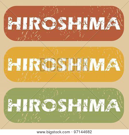 Vintage Hiroshima stamp set