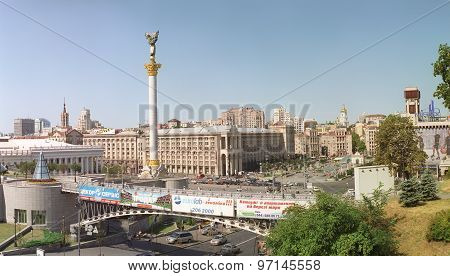 Maidan Nezalezhnosti (independence Square), Kyiv, Ukraine.