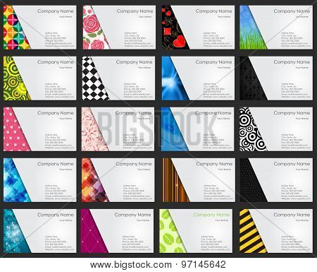 Template for Business Card Set Vector Illustration