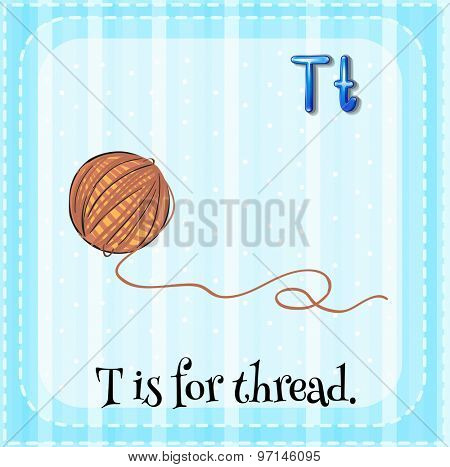 Flashcard letter T is for thread