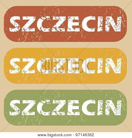 Vintage Szczecin stamp set