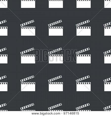 Straight black clapperboard pattern