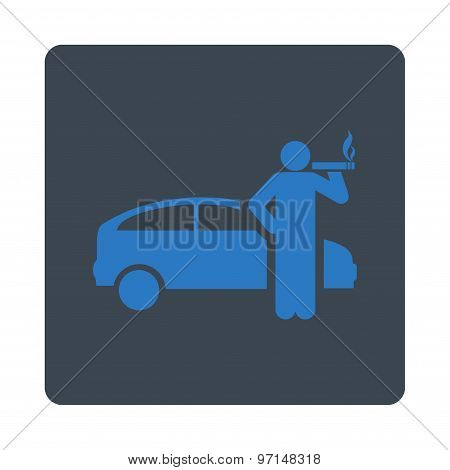 Smoking taxi driver icon