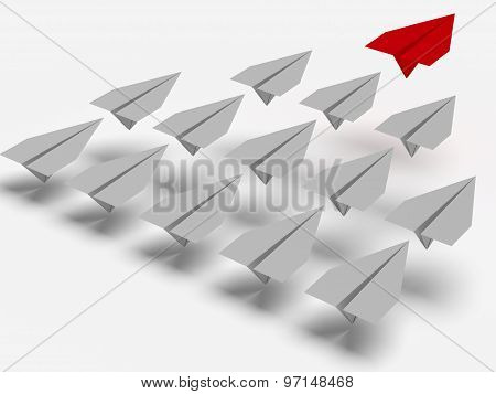 Leadership Concept. Planes