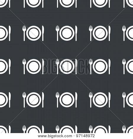 Straight black tableware pattern
