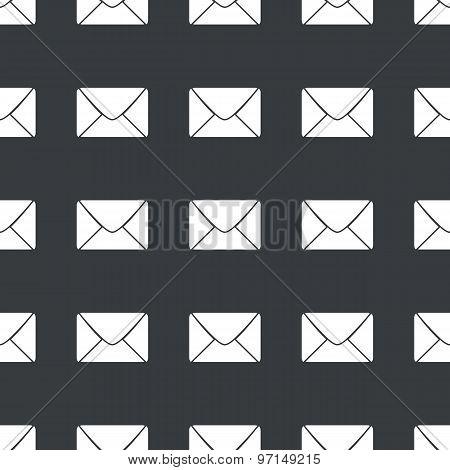 Straight black envelope pattern