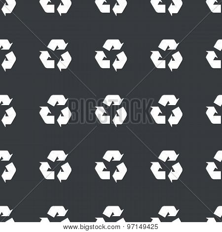 Straight black recycle sign pattern